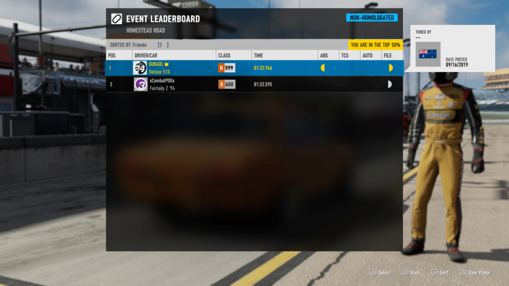 FM7 Time Attack | B Class (FWD/RWD/AWD) - Homestead Road Circuit 16-09-10