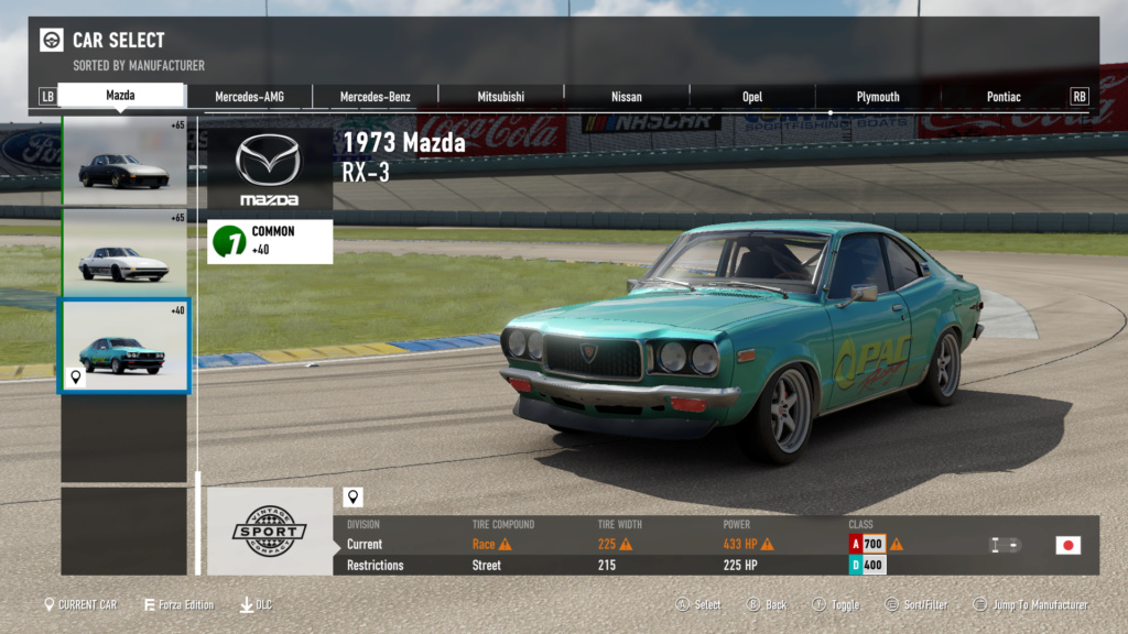 FM7 Time Attack | A Class - Top Gear Test Track 2-12-213