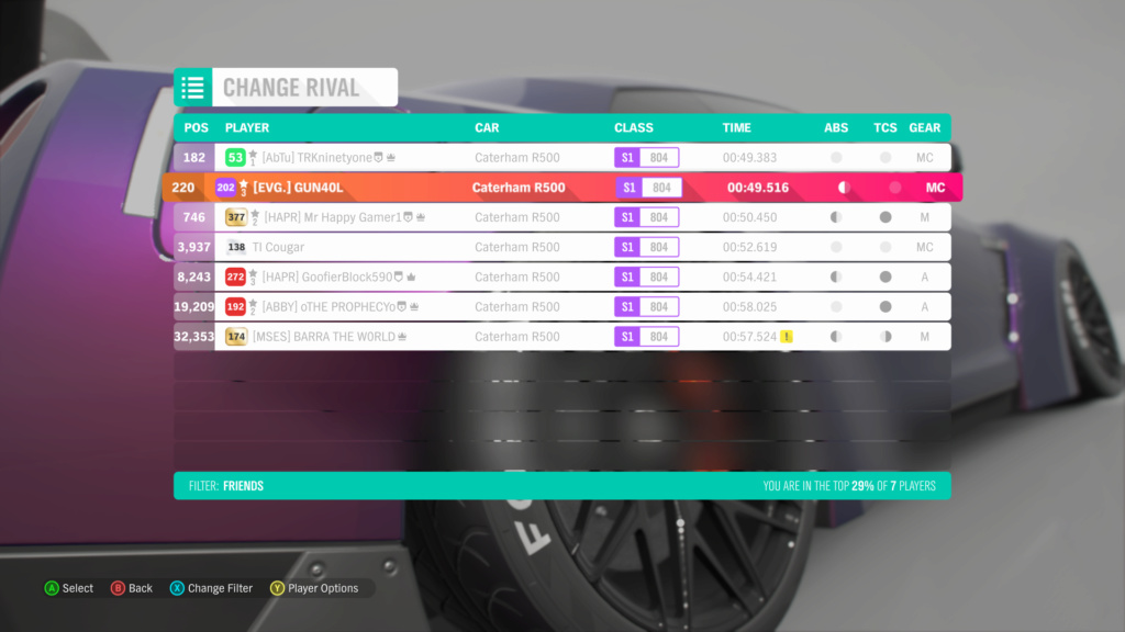 FH4 Time Attack | Road Racing Rivals - Ambleside Village Circuit (Caterham R500)  3-03-210