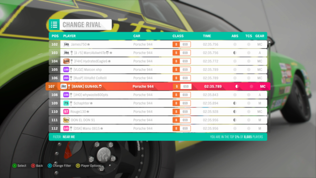 FH4 Time Attack | Road Racing Rivals | Porsche 944 - Lake District Sprint Img_6910