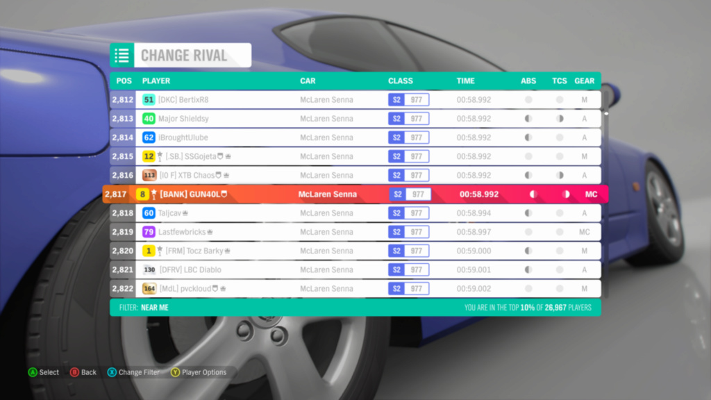 *RESULTS UP* FH4 Time Attack | Monthly Rivals - McLaren Senna Img_c310