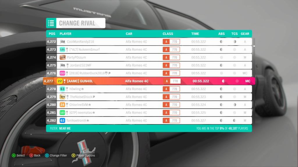 FH4 Time Attack | Road Racing Rivals - Broadway Village Circuit (Alfa Romeo 4C) Save_113