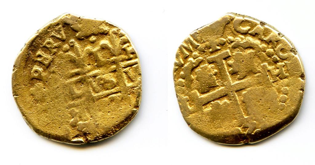 1 Real de Carlos II de Lima bañado en oro. Moneda10