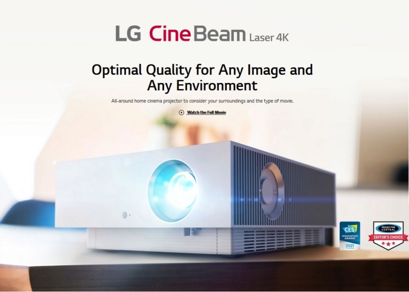 4K UHD Laser Smart Home Theater CineBeam Projector 1a13