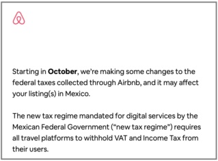 Airbnb Rentals in Mexico - Taxes Agr110