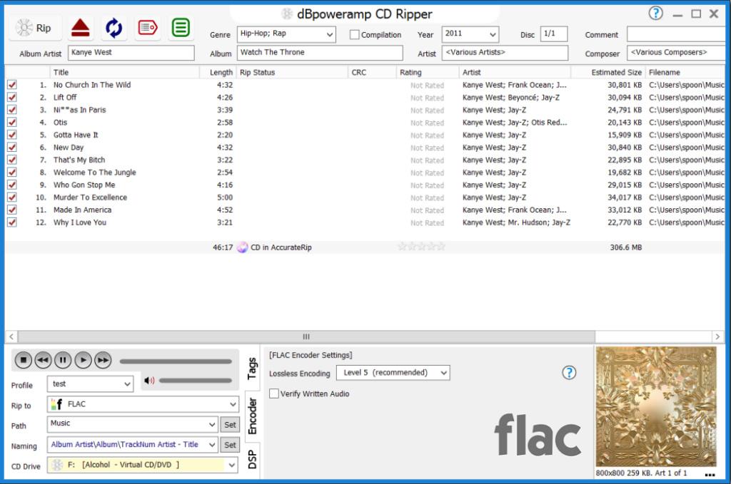 """Grabar en formato Flac """"con un click"""" Cdripp10"""
