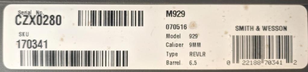 SOLD - S&W 929 9mm Revolver Img_2189