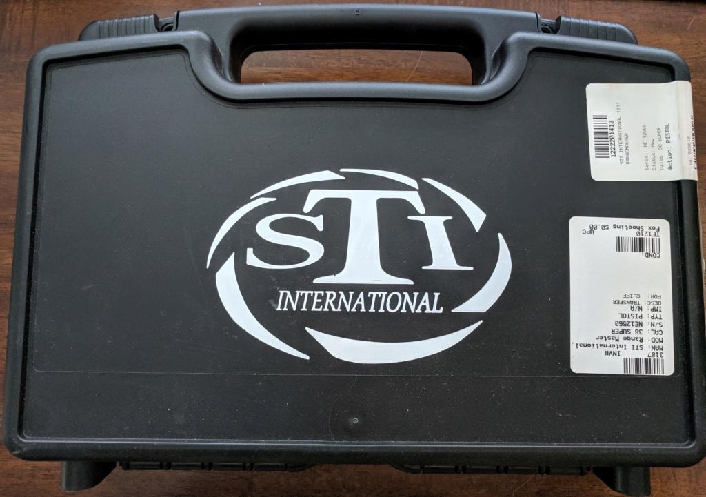 Sold Pending Funds - STI 1911 Range Master 38 Super Img_2237