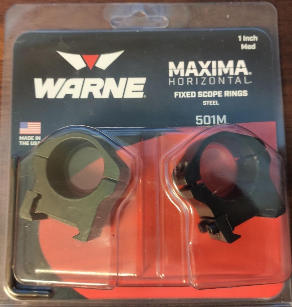 "SOLD Warne Maxima 1"" rings Warne_11"