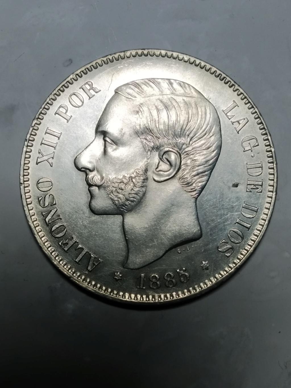 5 Pesetas 1885 (*18 *87 ). Alfonso XII. MSM - Página 2 01_anv20