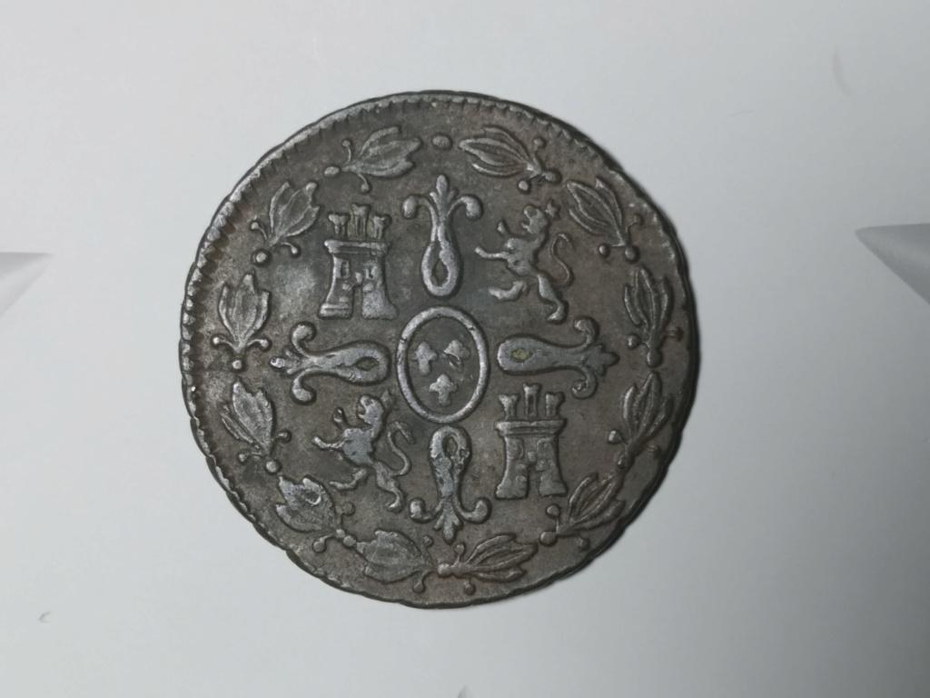 4 Maravedís 1827. Fernando VII. Segovia. 01_rev10