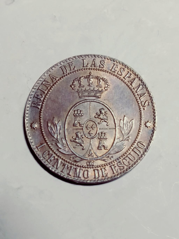 1 céntimo de escudo 1868. Isabel II. Barcelona. ¿Cobre o bronce? 01_rev22