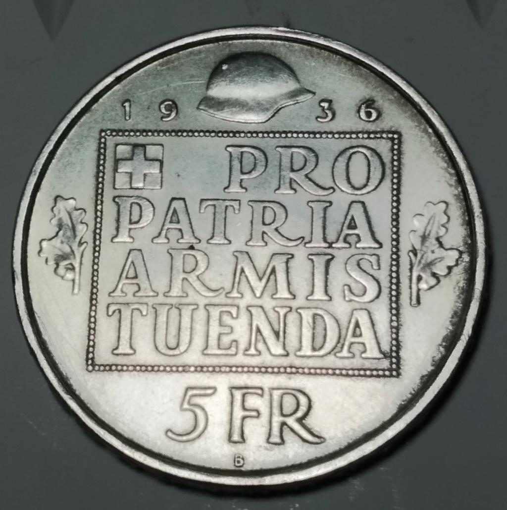 5 Francos. Suiza. 1936. Dedicado a Gobierno Provisional.  05_rev11