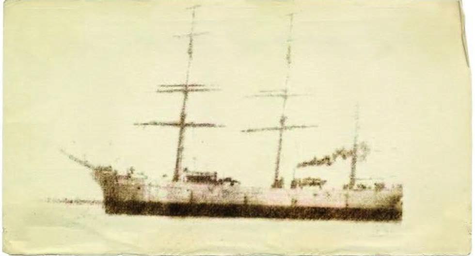 ⅕ Sol. Perú. 1914. El hundimiento del Lorton.    Lorton10