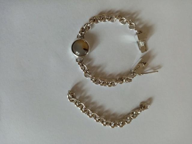 bracelet argent anneaux ronds cabochon et fermoir Img_2083