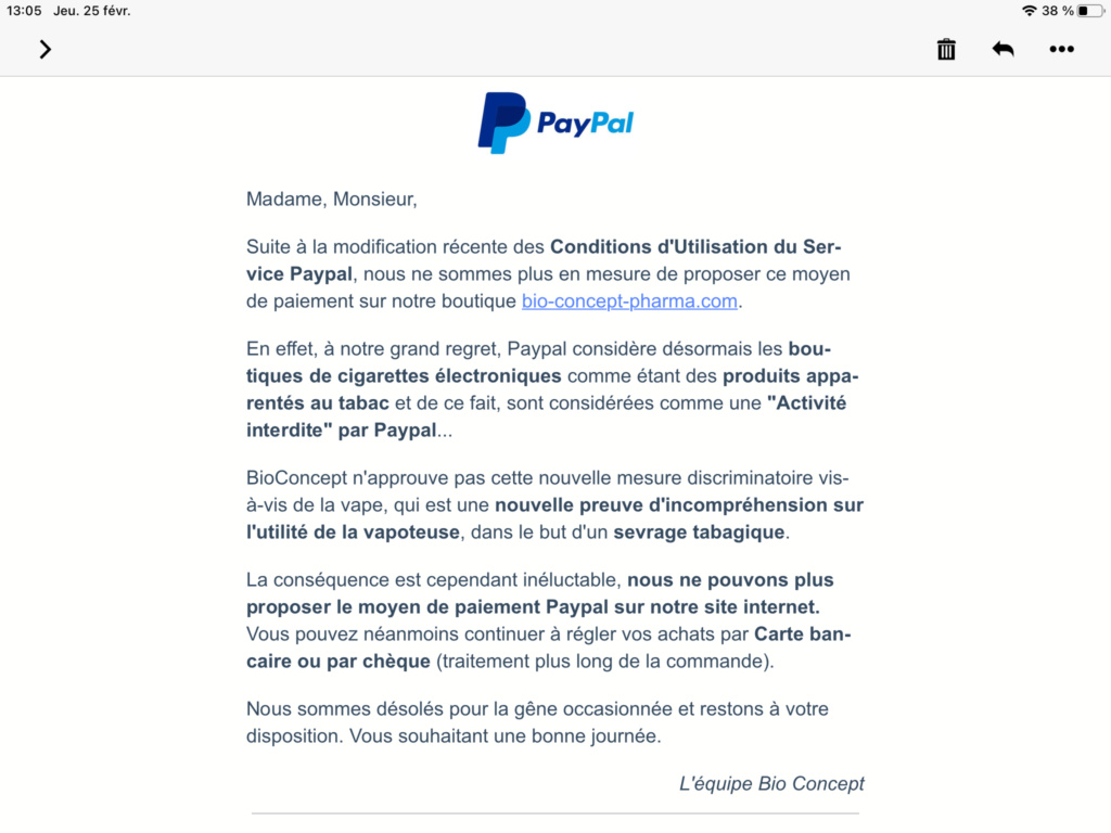 """Article du 09/11/2020 Breakingvap """" Paypal ferme les comptes liés à la vape"""" - Page 2 Fb797010"""