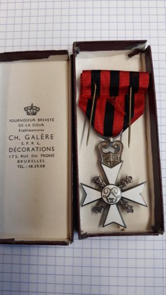 identification de médailles Belges 20200722