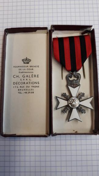 identification de médailles Belges 20200723