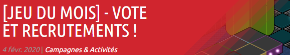 JDM : Vote et recrutements Webpro13