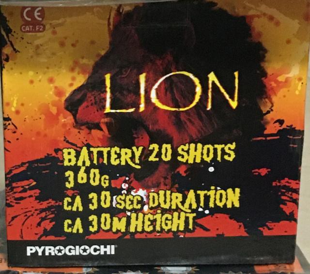Pyrogiochi - Lion 20 colpi Pyrogi10