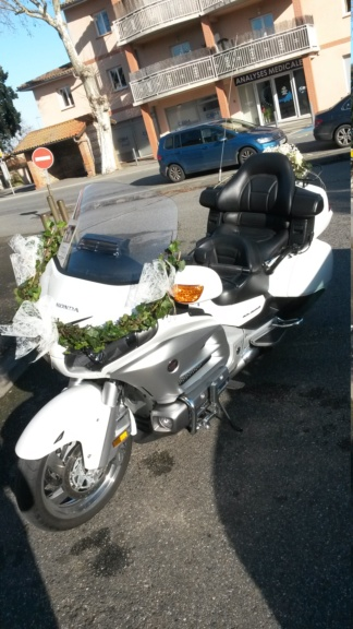 C. R. Occitanie - Escorte Goldwing au mariage d'Anita et Laurent 20200111