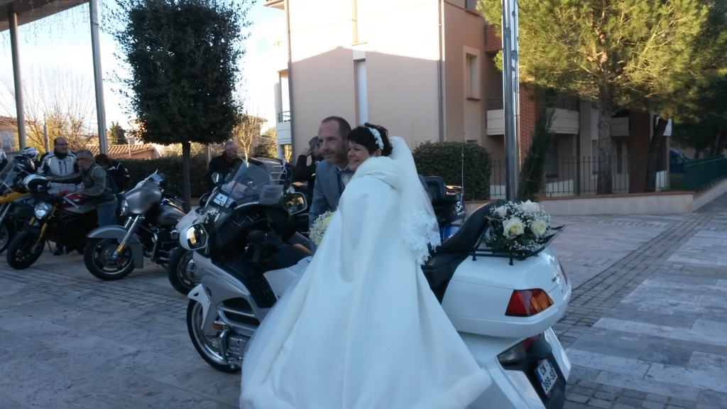 C. R. Occitanie - Escorte Goldwing au mariage d'Anita et Laurent 20200112