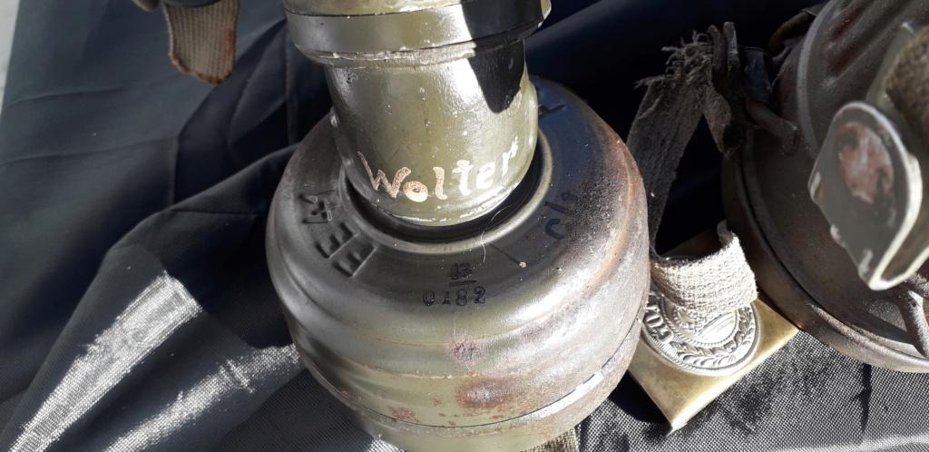 Masques gaz allemand boitier Gris et boucle ww1 20201224