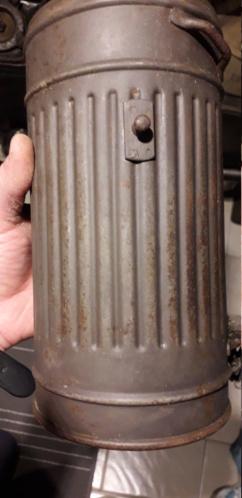 Masques gaz allemand boitier Gris et boucle ww1 20201227