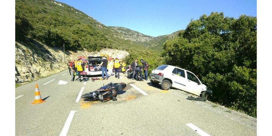 Groupe de motard accidenté en Ardèche. C'est chaud ! Title-10