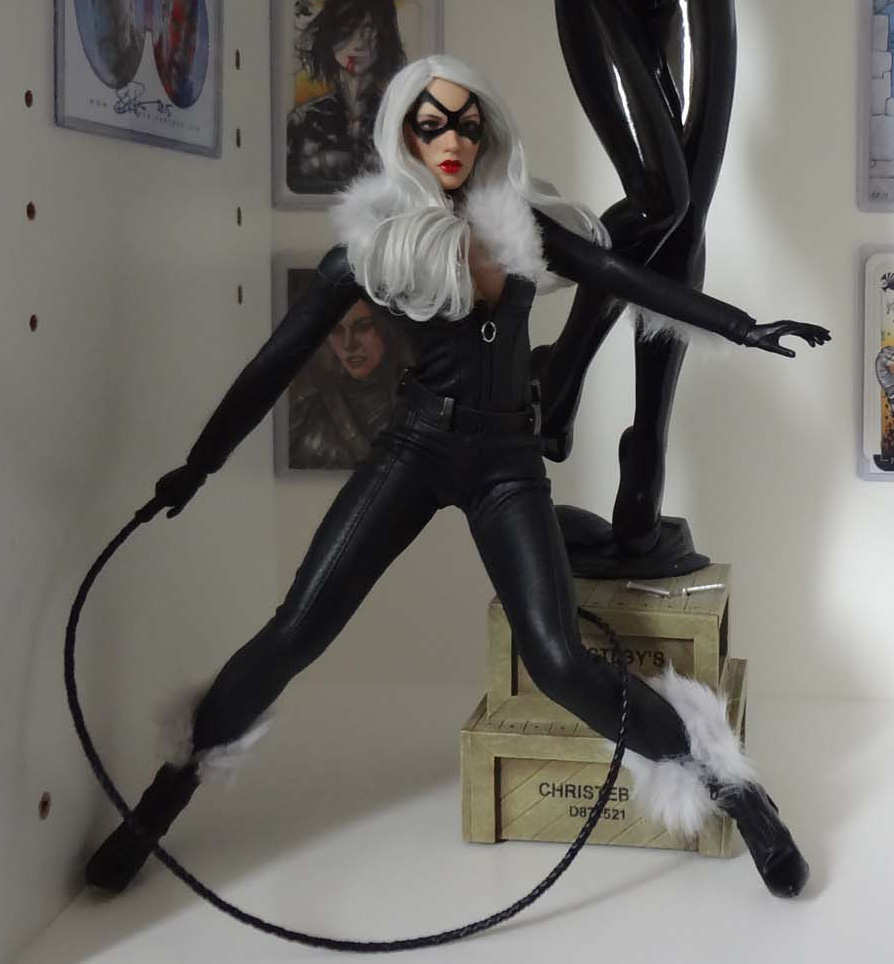 VeryCool - NEW PRODUCT: VERYCOOL Accessories Series: 1/6 Catwoman CATWOMAN Set (including head carving) VCL-1001# Black_10