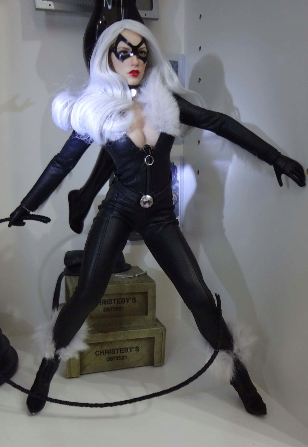 VeryCool - NEW PRODUCT: VERYCOOL Accessories Series: 1/6 Catwoman CATWOMAN Set (including head carving) VCL-1001# Black_11