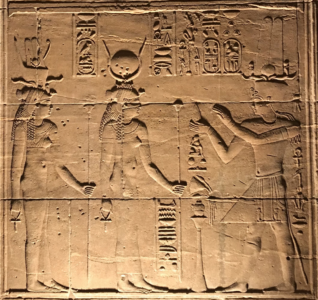 Asetian Temple at Philae: One Wall 3f58d010