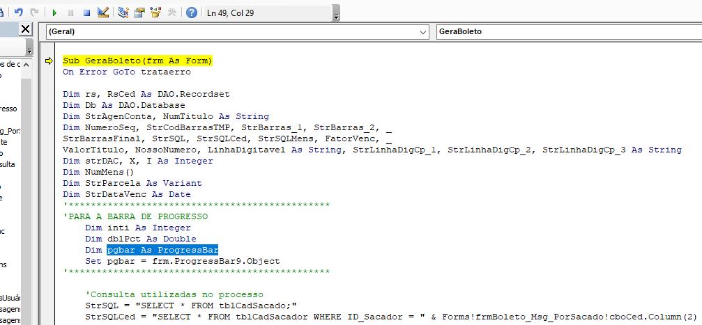 Siscaixa: erro de compilação Err11