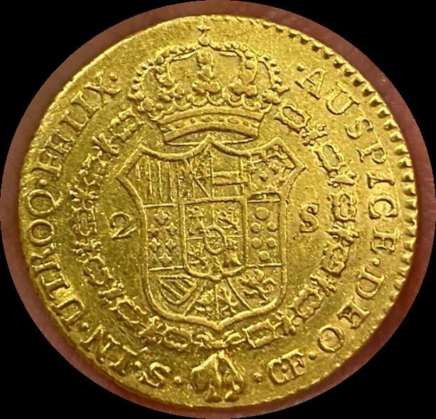 2 Escudos Carlos III año 1773 en oro  Smarts10
