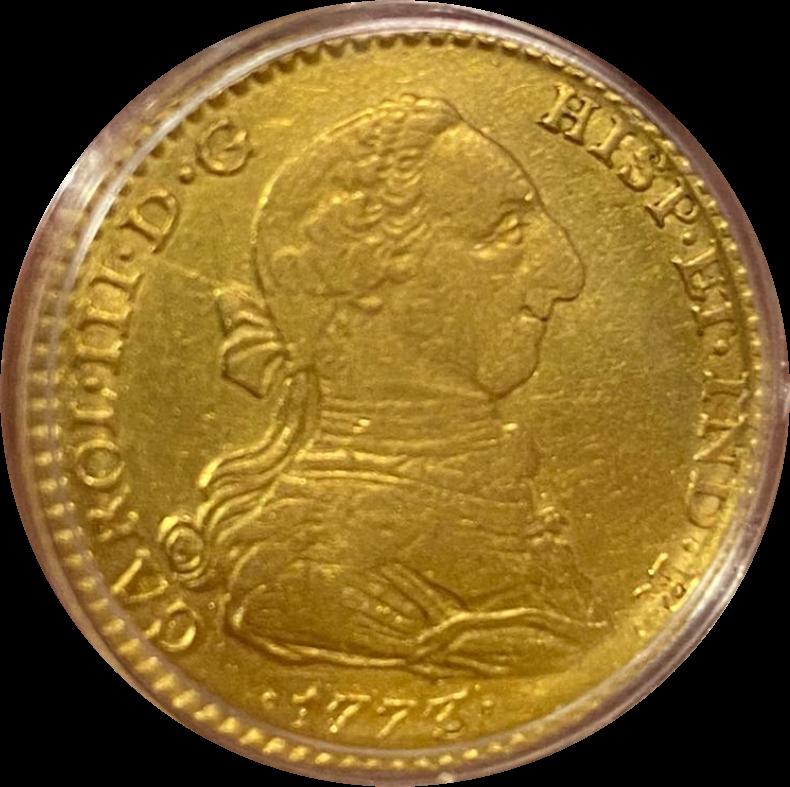 2 Escudos Carlos III año 1773 en oro  Smarts11
