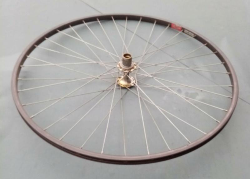 roue arrière HELICOMATIC  , montage de la RL + rondelle de fermeture + clef  20110