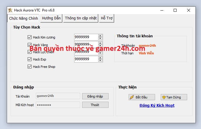 Hack Aurora VTC miễn phí Aurora10