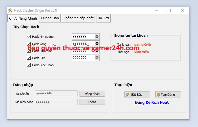 Hack Crasher Origin miễn phí Crashe10
