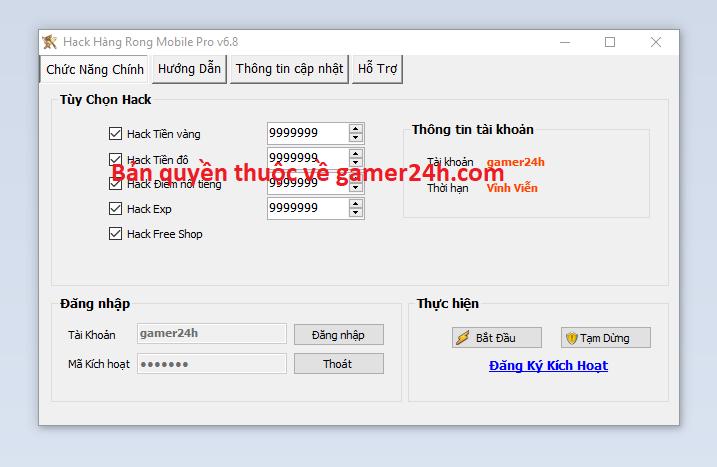 Hack Hàng Rong Mobile Hangro10