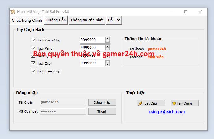 Hack MU Vượt Thời Đại miễn phí Muvuot10