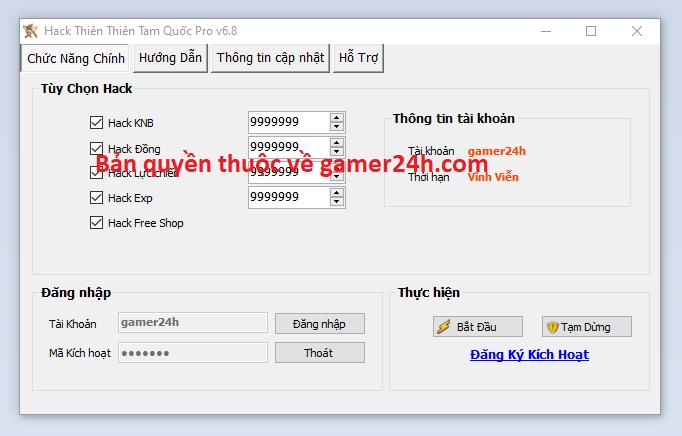 Hack Thiên Thiên Tam Quốc miễn phí Thient10