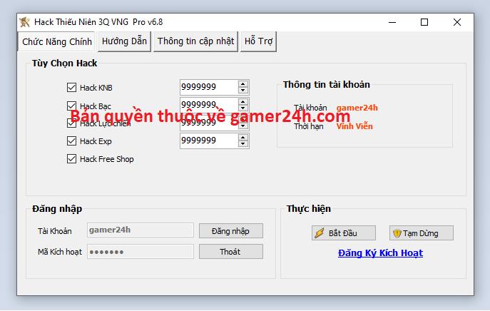 Hack Thiếu Niên 3Q VNG miễn phí Thieun10