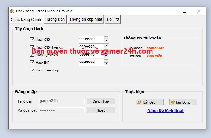 Hack Yong Heroes Mobile Yonghe10