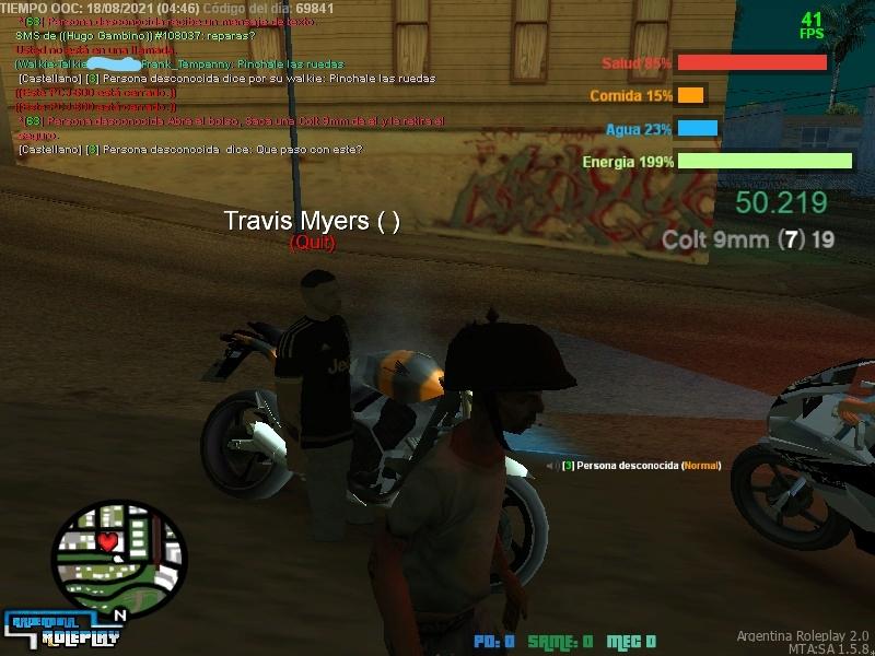 Reporte  a Travis Myers - Quit en rol - NRH - RK - MG - NRE - No rolear reconocimiento. Inkedm10