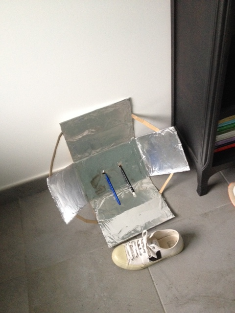 conseil:antenne DIY boite chaussure papier alu pour meilleure réception Img_4810