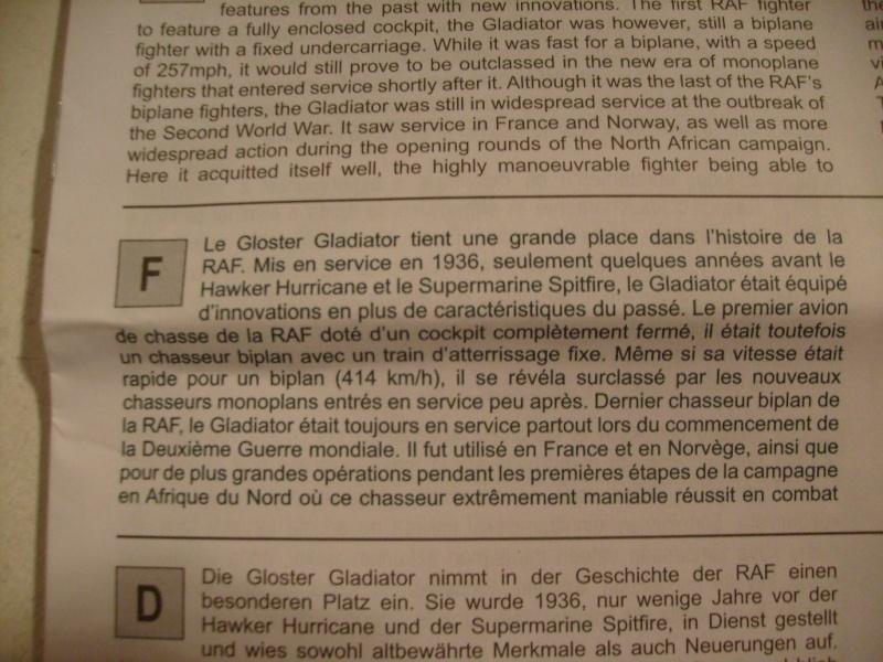 Comparatif GLOSTER GLADIATOR 1/72ème S7302389