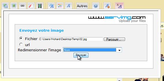 Comment ajouter des images sur le forum 0510