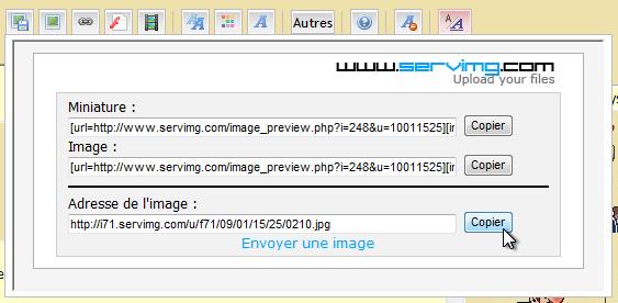 Comment ajouter des images sur le forum 0610