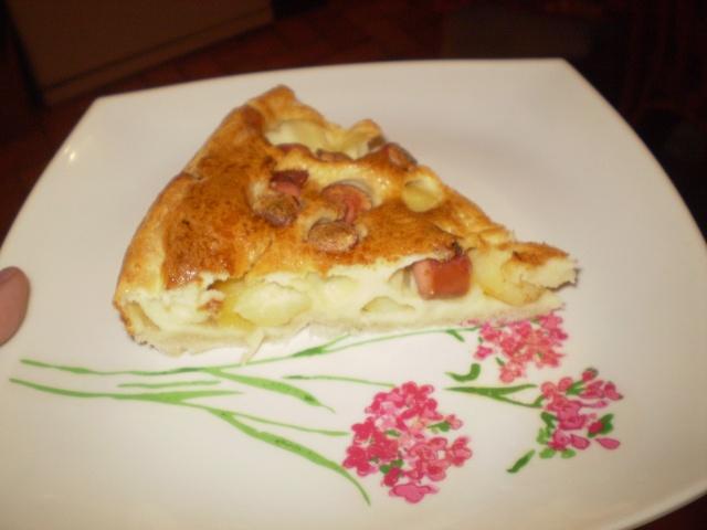 tarte aux pomme de terre et saucisses de strasbourg photo Clafou12