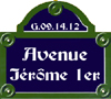 Avenue Jérôme 1er